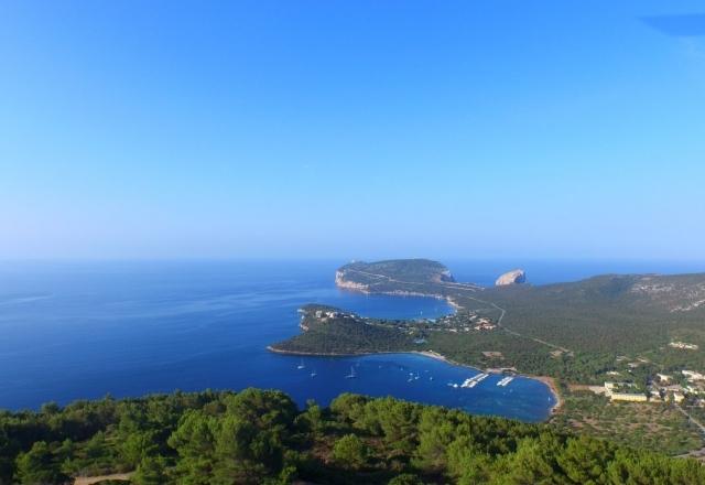 Panorama of Capo Caccia's Gulf