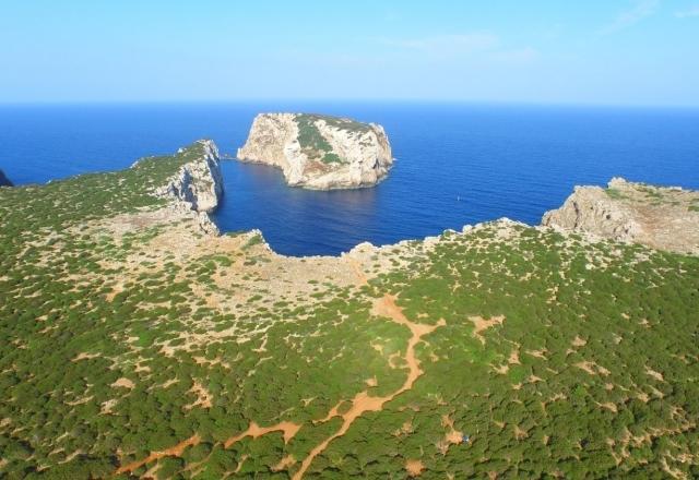 View on the island of Foradada