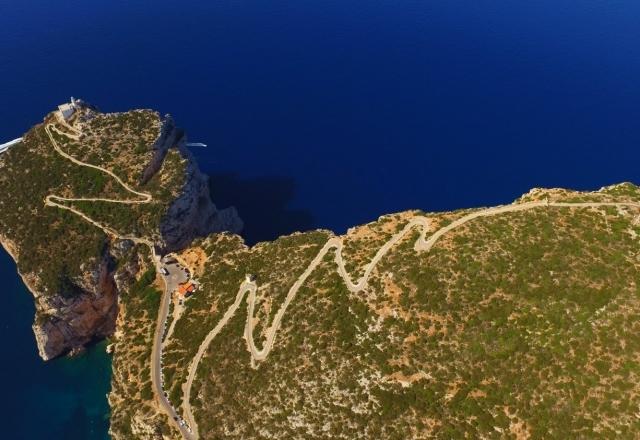 Panoramic road to Capo Caccia