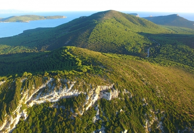 View from Mount Timidone of Porto Conte Natural Park