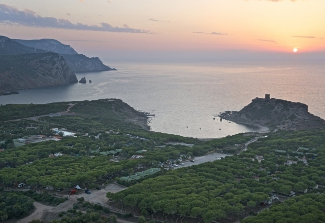 Panoramic Sunset on the Torre del Porticciolo