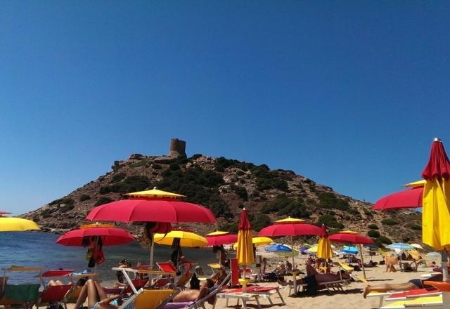 Beach umbrella in Torre del Porticciolo