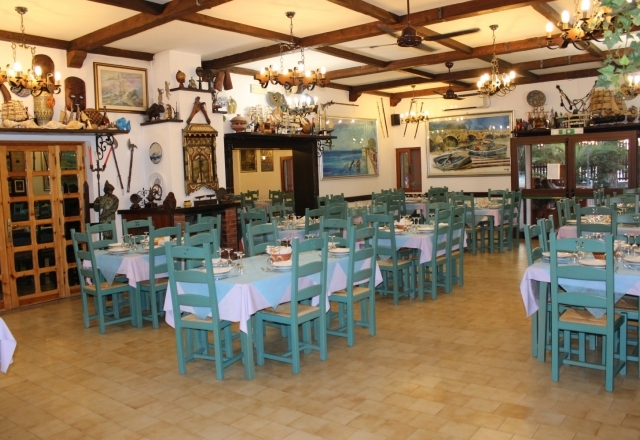 Overview of the restaurant hall
