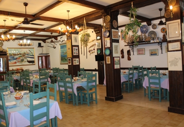 Angle of the restaurant hall