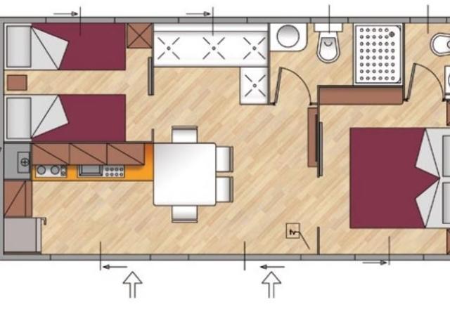 Planimetry Mobile Home Torre Riviera Superior